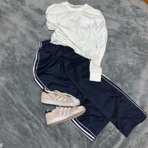 Adidas // Navy Cropped Track Pants